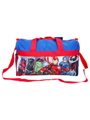 "Boys Avengers Duffel Bag 18"" Blue Red"