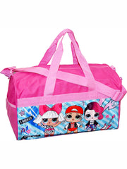 "Girls LOL Surprise! 18"" Pink Duffel Bag & Zippered Travel Accessories Pouch"