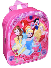 "Girls Disney Princesses 12"" Backpack Small Cinderella Belle Snow White Ariel"