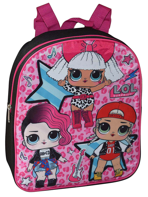 "LOL Surprise! 12"" Mini Backpack & Retractable Pen 6-Colors 2-Piece Set"