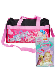 "JoJo Siwa Duffel Bag 18"" Carry-On Bows w/ Grab & Go Party Favor Play Pack Set"