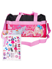 "Girls JoJo Siwa 18"" Carry-On Duffel Bag Pink w/ Raised Sticker Sheet (22-CT)"