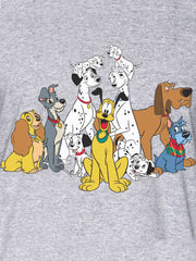 Men's Disney Dogs Classic Pluto T-Shirt Short Sleeve Lady & Tramp Gray