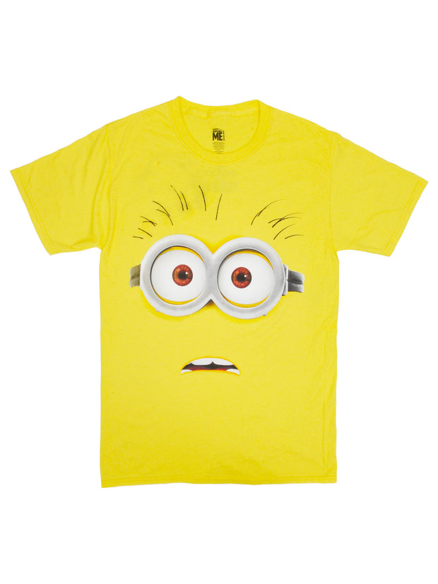 Men's Despicable Me Minions Goggles Costume T-Shirt Short Sleeve Yellow