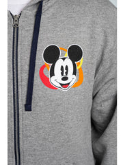 Mickey Mouse Donald Pluto Goofy Mens Zip Hoodie Sweatshirt Gray