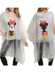 Women's Adult Minnie Mouse Waterproof Rain Poncho