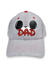 Disney Men's Mickey Mouse Dad Gray Baseball Hat Cap