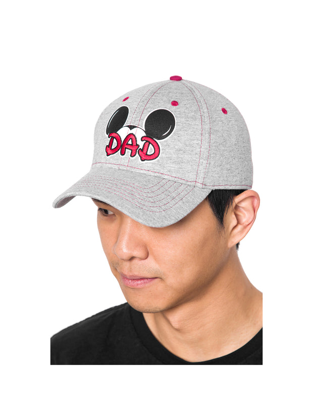Dad Men's Disney Mickey Mouse Gray Baseball Hat Cap