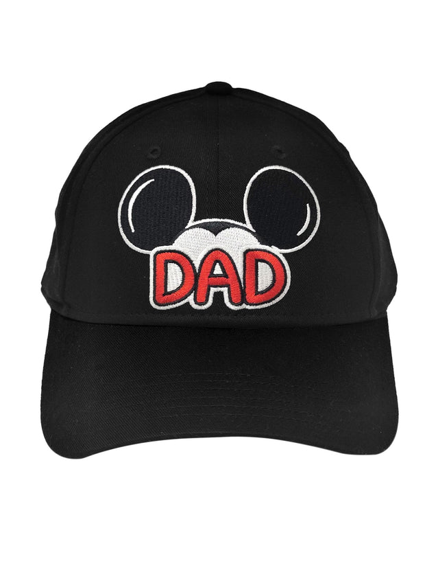 Disney Dad Hat Mickey Mouse Men's Baseball Cap Black
