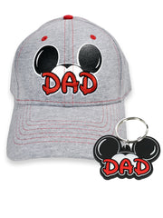 Men's Mickey Mouse Dad Hat & Key Chain 2Pc Gift Set