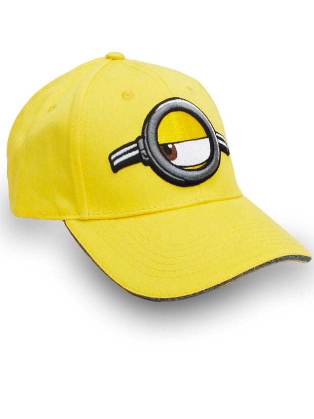Adult Minions Embroidered Hat Baseball Cap Yellow