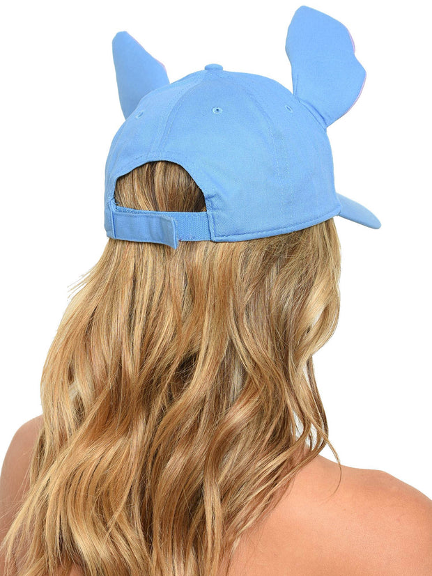 Adult Women's Stitch Baseball Hat 3D Ears Blue