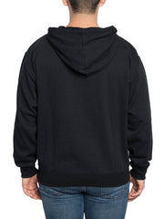 Disney Mens Mickey Mouse Hoodie Pullover Sweatshirt Peeking Black
