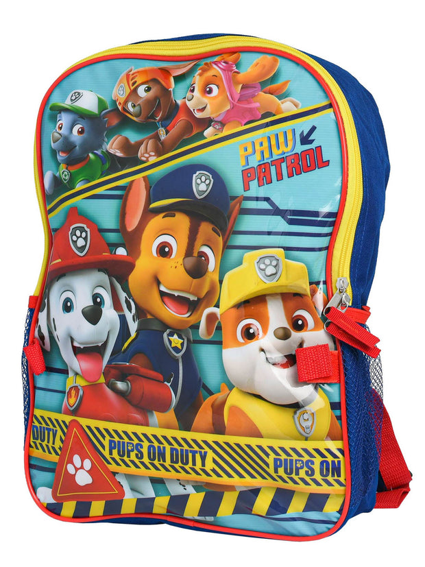 "Paw Patrol 16"" Backpack & Detachable Insulated Lunch bag w/ 16oz Water Bottle"