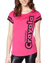 Juniors Women Crayola Halloween Costume Crayon T-Shirt Pink