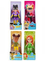 "Girls DC Comics 3"" Mini Figurines 4 Pc Batgirl Harley Bumblebee Poison Ivy Toys"
