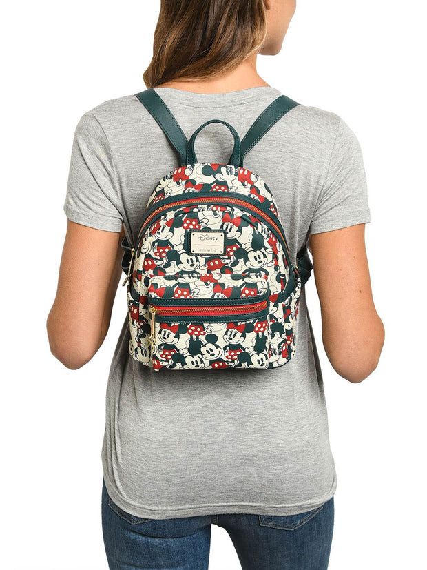 Loungefly x Disney Mickey & Minnie Mouse All-Over Small Backpack