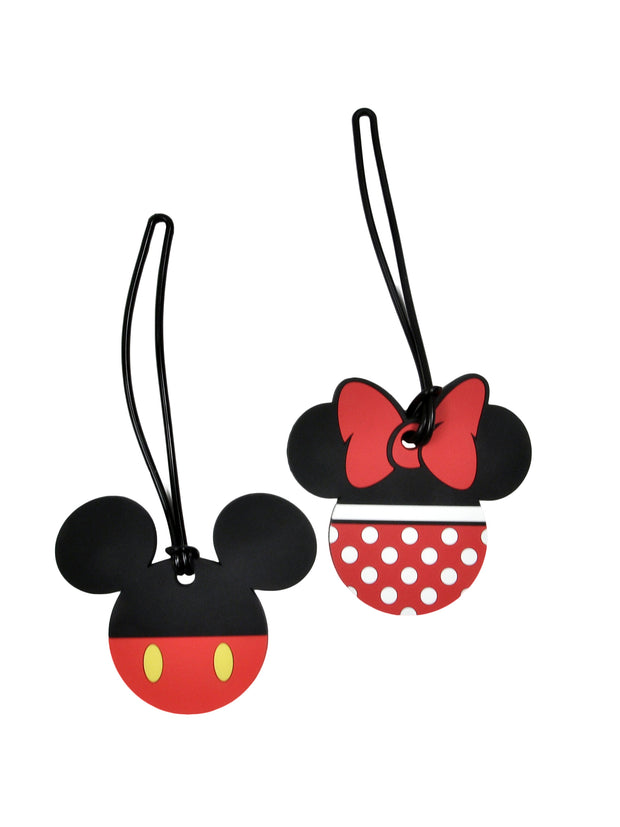 Mickey & Minnie Mouse Costumes Luggage Suitcase Tags 2PACK
