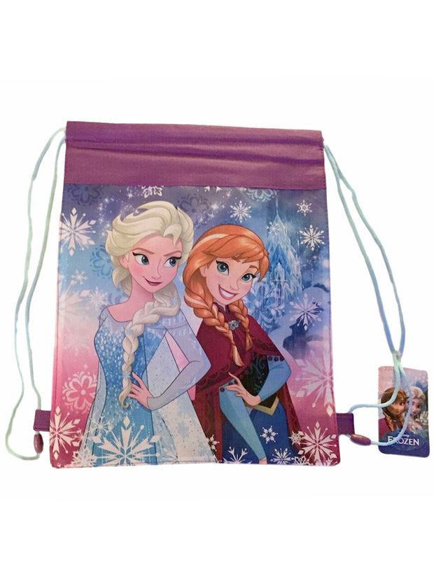 "Disney Frozen 16"" Glitter Coloring Sheet & 5 Markers w/ Cinch Tote Bag Set"