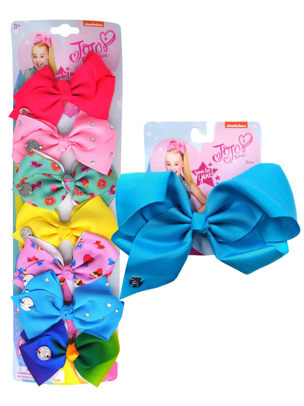JoJo Siwa 7 Days of the Week Bows Cupcakes Hearts Donuts & Large Blue Bow Set