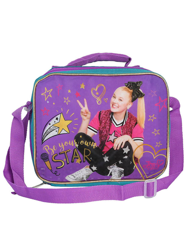 Girls Jojo Siwa Insulated Lunch Bag Be Your Own Star Peace w/ Shoulder Strap