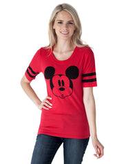 Junior  Mickey Mouse  Athletic T-Shirt Red