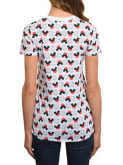 Juniors Mickey Mouse Icons All-Over T-Shirt White XS