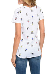 Mickey Mouse Juniors T-Shirt Mickey All Over Print - White