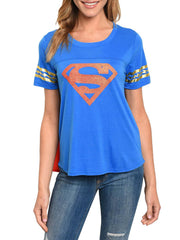 Supergirl Junior Halloween Costume T-shirt w/Removable Cape