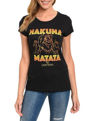 Women's Junior The Lion King Hakuna Matata T-Shirt Black
