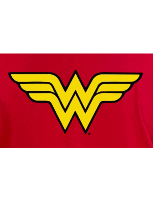 Plus Size Women's Wonder Woman Short Sleeve T-Shirt Costume Tee Red
