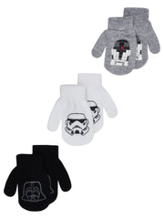 Toddler Star Wars Mittens Darth Vader R2-D2 Stormtrooper 2T-4T (3-PAIRS)