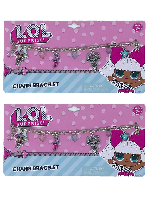 Girls LOL Surprise Charm Bracelets Pranksta Theater Club 2-Pack