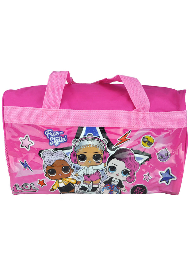Girls LOL Surprise Duffel Bag w/ OMG Dolls Lightweight Face Mask Cover Wrap