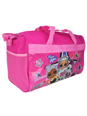Girls LOL Surprise! Travel Duffel Bag w/ Zipper Mesh Accessories Pouch Rock On