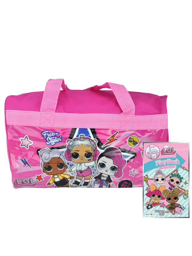 "L.O.L. Surprise! Girls 17"" Duffel Bag & Grab-n-Go Play Pack 2-Piece Set"