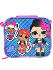 LOL Surprise Insulated Lunch Bag w/Shoulder Strap & 18oz Water Bottle 2-Pcs Set
