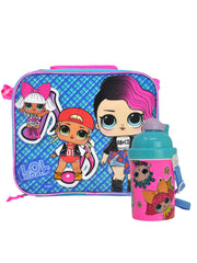 LOL Surprise! Lunch Bag & Water Bottle w/Reusable Ice Cubes School Set