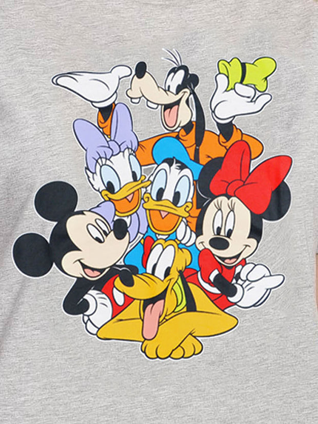 Women's Plus Size Mickey Mouse & Friends T-Shirt Gray Minnie Daisy Pluto