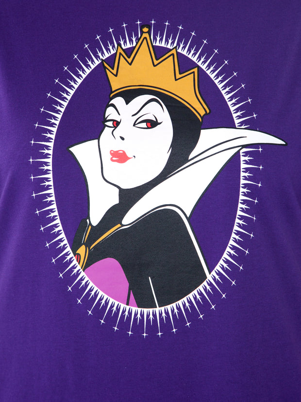 Disney Women's Snow White Wicked Queen Plus Size T-Shirt Purple (Size 1X)