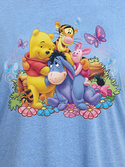Womens Plus Size Winnie The Pooh Eeyore Tigger Piglet T-Shirt