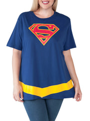 Women's Plus Size Supergirl T-Shirt Costume Superman Halloween