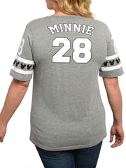 Juniors Plus Size Minnie Mouse Athletic T-Shirt Gray
