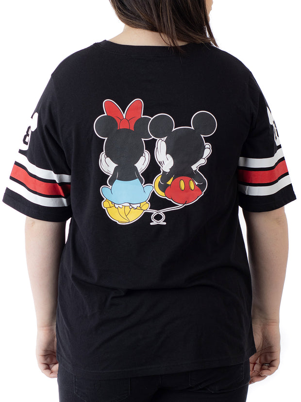 Disney Juniors Plus Size Mickey Minnie Mouse Athletic T-Shirt Front Back Size 1X