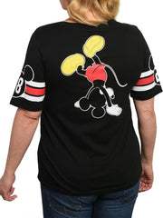 Juniors Plus Size Mickey Mouse Athletic T-Shirt Black