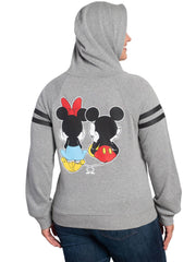 Disney Minnie Mickey Mouse Hoodie Junior Plus Size Sweatshirt (Size 3X Only)