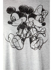 Juniors Plus Size Disney Mickey & Minnie Mouse Hoodie Long Sleeve Shirt