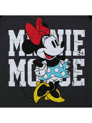 Juniors Plus Size Minnie Mouse T-Shirt Raglan Baseball Tee 3/4 Sleeve