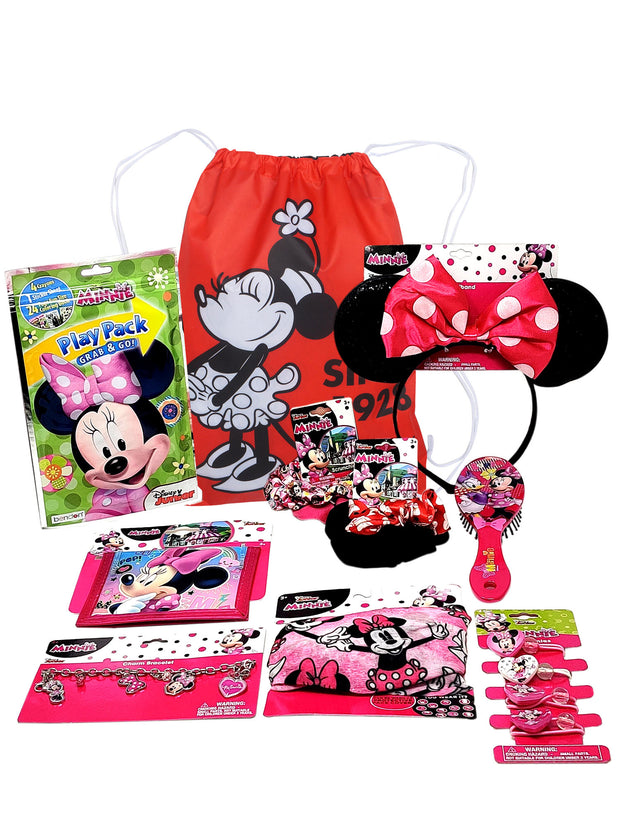 Minnie Sling 15 PC Face Cover Hair Accessories Headband Crayon Wallet Bracelet