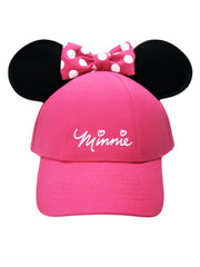Minnie Mouse Girls Pink Adjustable Hat with Ears